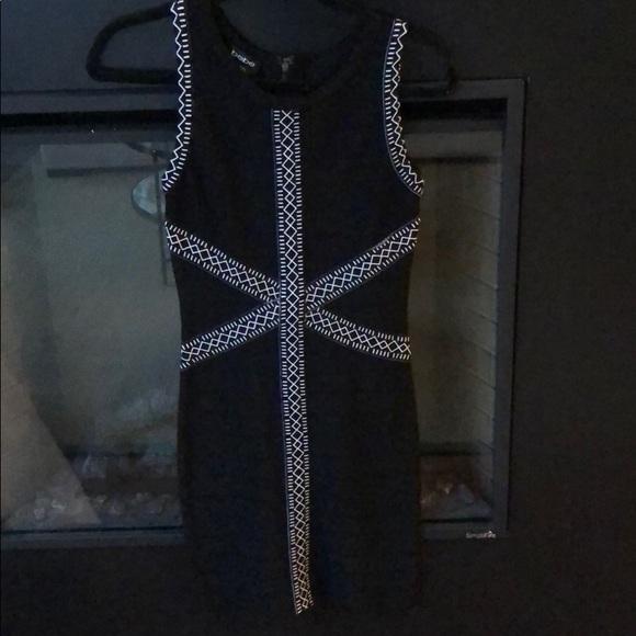 bebe Dresses & Skirts - Black and White Bebe Bodycon Dress